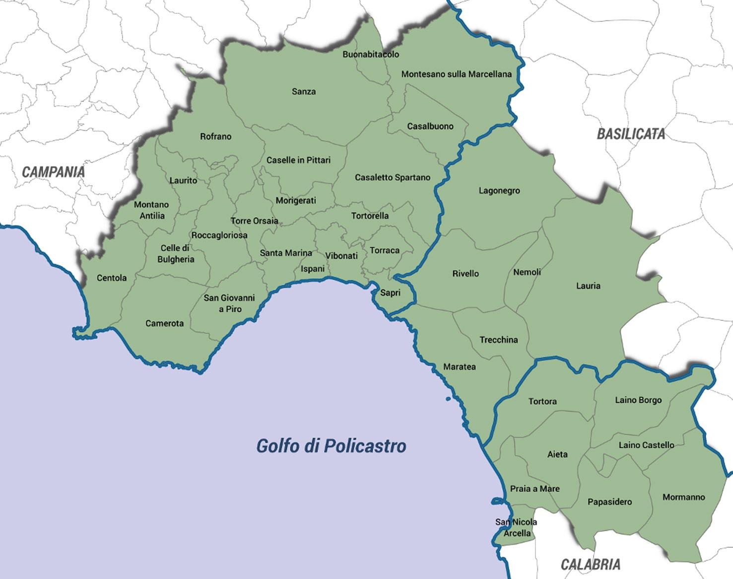 Cartina Campania Grande.Golfo Di Policastro Un Area Tra Campania Basilicata E Calabria